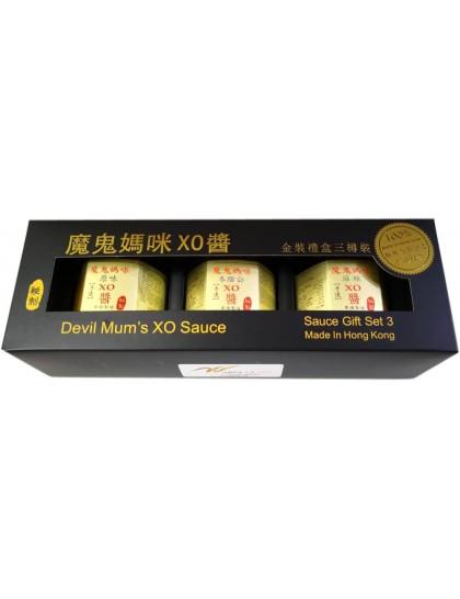 魔鬼媽咪XO醬金裝禮盒(3支裝)